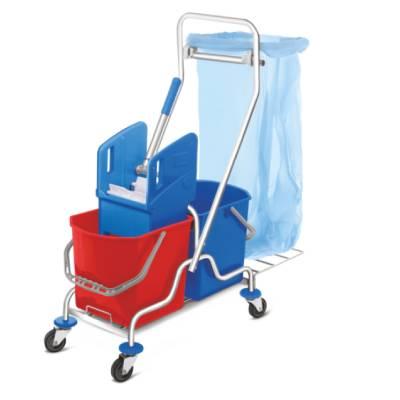 Carucior curatenie profesional cu sac