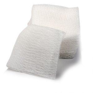 Comprese tifon sterile cu margini pliate 12 straturi 10cm x 10cm A5