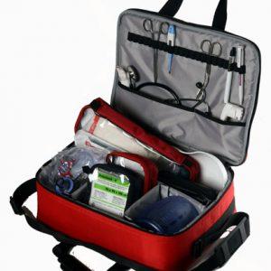 geanta prim ajutor echipata