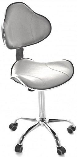 Taburet medical cu spatar ergonomic - H 54/74cm