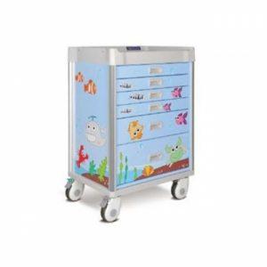 Troliu Medical Pediatric cu 5 sertare