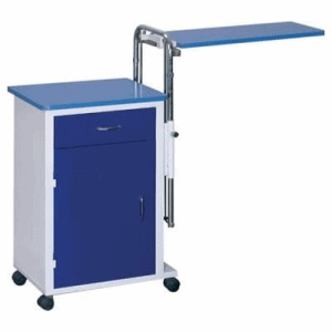 Noptiera pat spital metalica cu masa