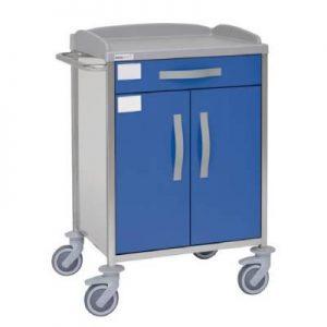 Troliu spital pentru urgente si tratament, otel inoxidabil