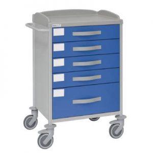 Carucior medical cu sertare, multifunctional