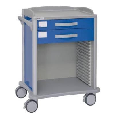 Troliu uz medical, cu sertare si cosuri detasabile