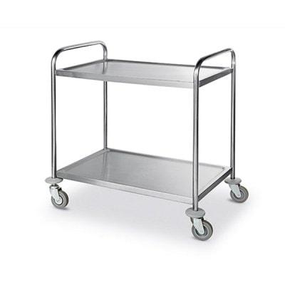 Carucior transport alimente, 2 polite, 850x450x900mm - Inox