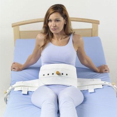 Centura de fixare abdominala cu inchidere magnetica, captusita, AD56A